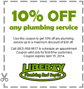 Plumbing services coupon